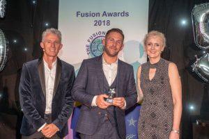 Photo of David at the Fusion Awards